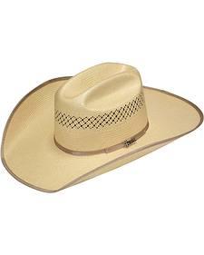 Twister 10X Shantung Americana Bound Edge Straw Cowboy Hat