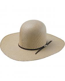 Tony Lama Open Crown Spotted Sheridan Straw Cowboy Hat