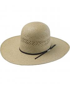 Tony Lama Open Crown Jute Straw Cowboy Hat