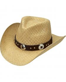 Silverado Natural Fancy Toyo Straw Cowboy Hat