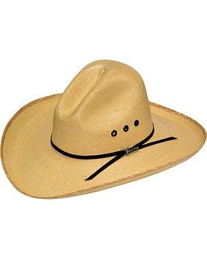 Twister Fine Palm Leaf Straw Gus Crown Cowboy Hat