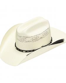 Twister Bangora Straw Cowboy Hat with Braided Band