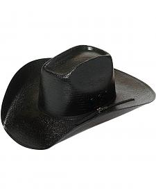 Twister 8X Shantung Black Straw Cowboy Hat