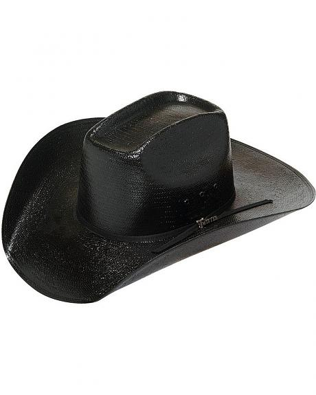 Straw Cowboy Hat Black Black Straw Cowboy Hat