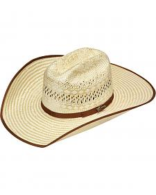 Twister Ribbon Bound Poly Rope Straw Cowboy Hat