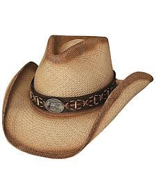 Bullhide Left Handed Gun Panama Straw Cowboy Hat
