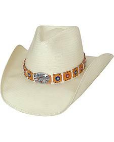 Bullhide American Eagle Shantung Panama Straw Cowboy Hat