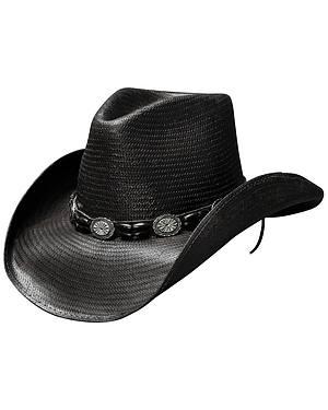 Bullhide Black Hills Shantung Panama Straw Cowboy Hat