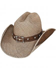 Bullhide Way of Life Shantung Panama Straw Cowboy Hat