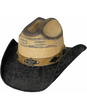 Bullhide Rough Start Leather & Bangora Straw Cowboy Hat