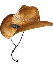 Jack Daniel's Natural Raffia Straw Cowboy Hat
