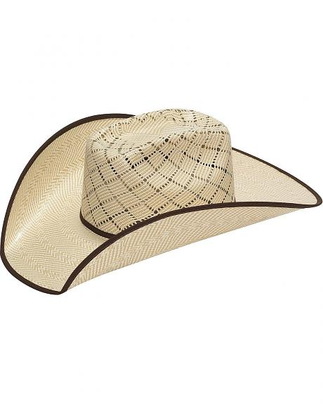 Twister 10X Criss Cross Vent Bound Edge Straw Cowboy Hat