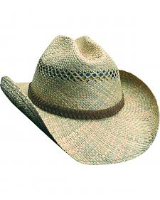 Scala Seagrass Straw Western Hat