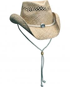 Scala Pacific Seagrass Vent Crushable Cowboy Hat