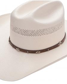 Stetson Lobo 10X Straw All-Around Vent Star Concho Band Cowboy Hat