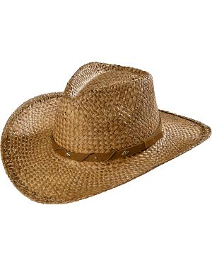 Scala Tea Moroca Straw Cowboy Hat