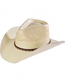 Scala Men's Vented Bangora Straw Cowboy Hat