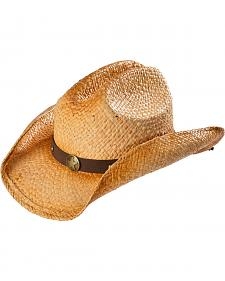 Scala Men's Star Concho Straw Western Hat