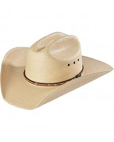 Larry Mahan Men's Granger Palm Brown Fancy Band with Star Concho Hat