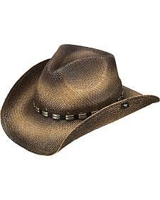 Peter Grimm Bret Straw Cowboy Hat
