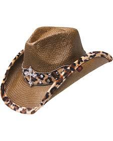 Peter Grimm Tan Winslow Straw Cowboy Hat