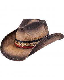 Peter Grimm Hogan Straw Cowboy Hat