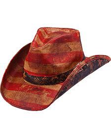 Peter Grimm Patriot Straw Cowboy Hat
