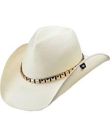Peter Grimm Drakkar White Straw Cowboy Hat