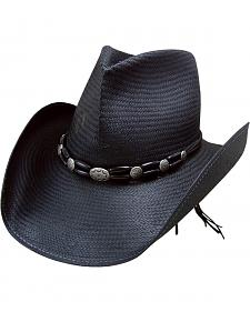 Charlie 1 Horse Night Rider Black Straw Cowboy Hat
