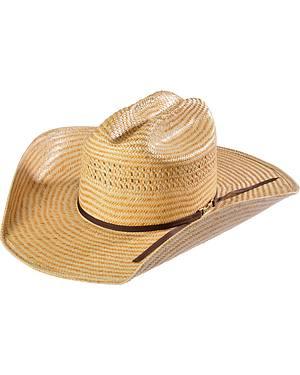 American Hat Co. PoliRope Straw Stockman Crown Cowboy Hat