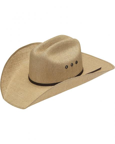 Twister 8X Jute Three Cord Brown Band Cowboy Hat