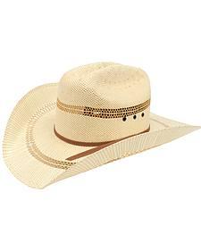 Ariat Double S Eyelet Bangora Straw Cowboy Hat