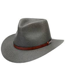 Black Creek Men's Grey Toyo Straw Hat
