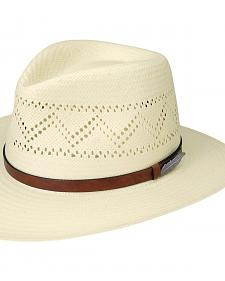 Black Creek Men's Zig-Zag Vent Toyo Straw Hat