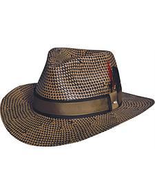 Black Creek Toyo Straw Two-Tone Patterned Hat