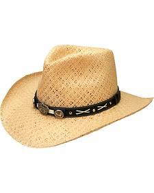 Jack Daniel's Soft Toyo Straw Cowboy Hat