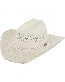 Larry Mahan 10X Ivory Cinch Straw Cowboy Hat