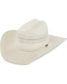 Larry Mahan 10X Ivory Cinch Straw Cowboy Hat