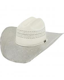 Larry Mahan Men's 10X Grey Cinch Straw Cowboy Hat