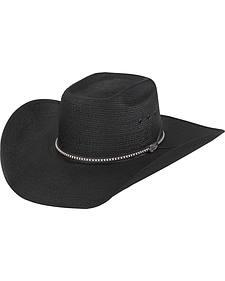 Justin Men's Bent Rail Black Gunslinger Cowboy Hat