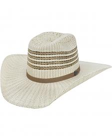 Justin Bent Rail Barrel Straw Cowboy Hat