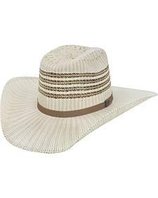 Justin Bent Rail Barrel Straw Cowboy Hat
