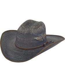 Justin Men's Bent Rail Blue Fenix Straw Hat