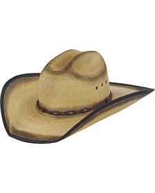 Justin Bent Rail Trigger Straw Cowboy Hat