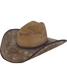 Justin Bent Rail Trapper Straw Cowboy Hat