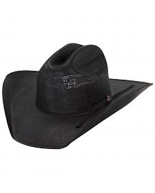 Justin 20X Cutter Black Straw Cowboy Hat
