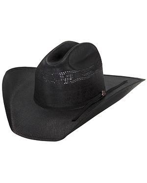Justin 20X Cutter Black Straw Cowboy Hat