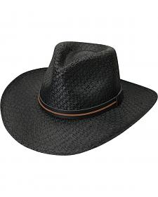 Black Creek Men's Black Toyo Straw Hat