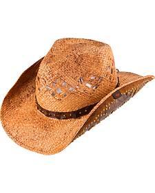 Peter Grimm Jarales Straw Cowboy Hat