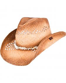 Peter Grimm Corinne Puka Shell Cowboy Hat